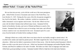 Alfred Nobel<BR>Alfred Nobel - Creator of the Nobel Prize