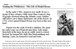 Daniel Boone<BR>Taming the Wilderness - The Life of Daniel Boone