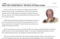 Charles Schulz<BR>That's Life, Charlie Brown - The Story of Charles Schulz