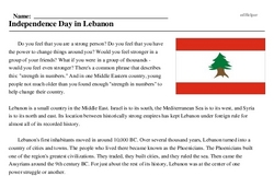 Lebanese Independence Day<BR>Independence Day in Lebanon