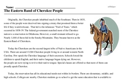 National Native American Month<BR>The Eastern Band of Cherokee People