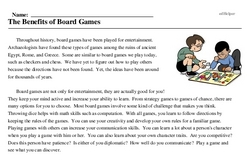 National Games and Puzzles Week<BR>The Benefits of Board Games
