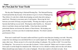 National Flossing Day<BR>It's Not Just for Your Teeth