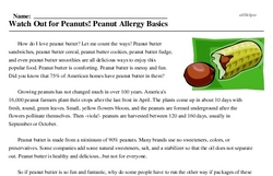 National Peanut Butter Fudge Day<BR>Watch Out for Peanuts! Peanut Allergy Basics