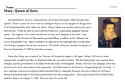 Mary Stewart<BR>Mary, Queen of Scots