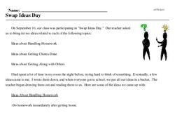 Print <i>Swap Ideas Day</i> reading comprehension.