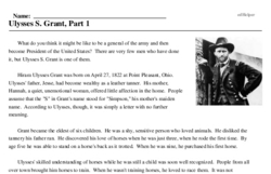 Ulysses S. Grant<BR>Ulysses S. Grant, Part 1