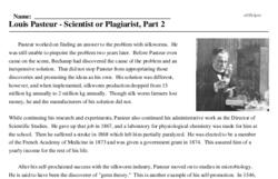 Louis Pasteur<BR>Louis Pasteur - Scientist or Plagiarist, Part 2