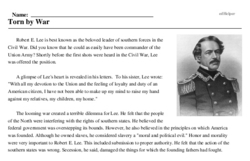 Robert E. Lee<BR>Torn by War