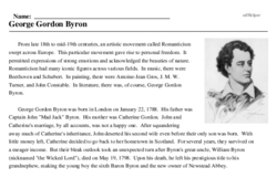 Byron<BR>George Gordon Byron