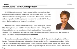 Katie Couric<BR>Katie Couric - Lady Correspondent
