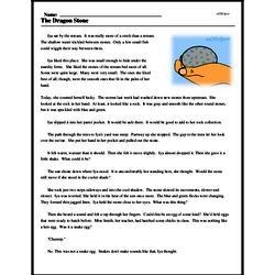 Print <i>The Dragon Stone</i> reading comprehension.
