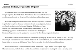 Jackson Pollock<BR>Jackson Pollock, or Jack the Dripper