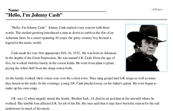 Johnny Cash<BR>