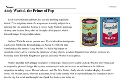 Andy Warhol<BR>Andy Warhol, the Prince of Pop