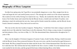 Dicey Langston<BR>Biography of Dicey Langston