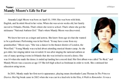 Mandy Moore<BR>Mandy Moore's Life So Far