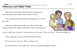 National TV Turn-Off Week<BR>Tinkertoys and Tiddly Winks