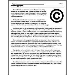 Print <i>Your Copyrights</i> reading comprehension.