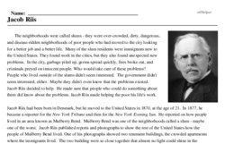 Print <i>Jacob Riis</i> reading comprehension.
