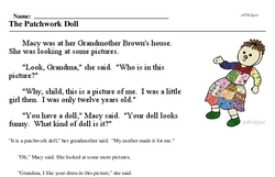 Print <i>The Patchwork Doll</i> reading comprehension.