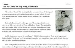 Jay Silverheels<BR>You've Come a Long Way, Kemosabe