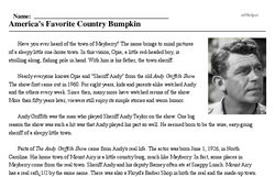 Andy Griffith<BR>America's Favorite Country Bumpkin