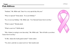 National Cancer Survivors Day<BR>Pink Ribbons