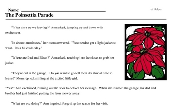 Poinsettia Day<BR>The Poinsettia Parade