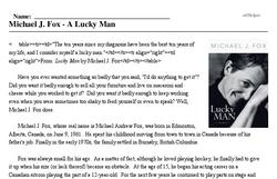 Michael J. Fox<BR>Michael J. Fox - A Lucky Man