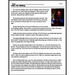 Print <i>Chris Van Allsburg</i> reading comprehension.
