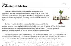 Celebrating with Bube Rose (Hanukkah)<BR>Celebrating with Bube Rose
