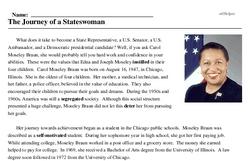 Carol Moseley Braun<BR>The Journey of a Stateswoman