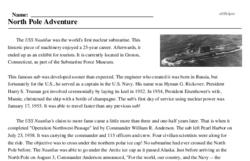 Nautilus Travels under North Pole<BR>North Pole Adventure