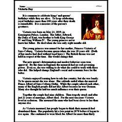 Print <i>Victoria Day</i> reading comprehension.