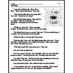 Print <i>The King</i> reading comprehension.