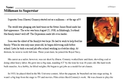 Sean Connery<BR>Milkman to Superstar