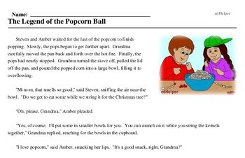 Popcorn Popping Day<BR>The Legend of the Popcorn Ball