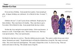 Print <i>Shichi-Go-San</i> reading comprehension.