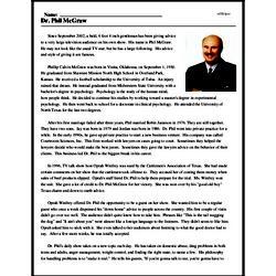 Print <i>Dr. Phil McGraw</i> reading comprehension.