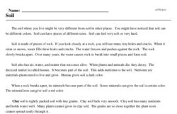 Print <i>Soil</i> reading comprehension.