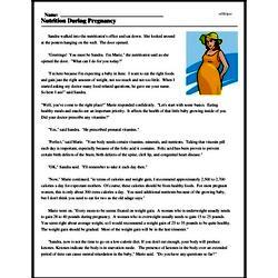Print <i>Nutrition During Pregnancy</i> reading comprehension.