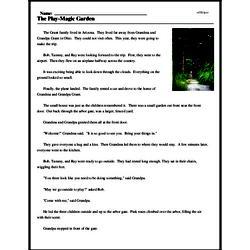 Print <i>The Play-Magic Garden</i> reading comprehension.