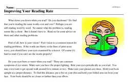 Print <i>Improving Your Reading Rate</i> reading comprehension.