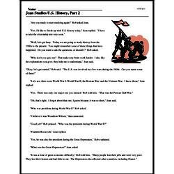 Print <i>Jean Studies U.S. History, Part 2</i> reading comprehension.