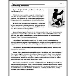 Print <i>Anti-Slavery Movement</i> reading comprehension.