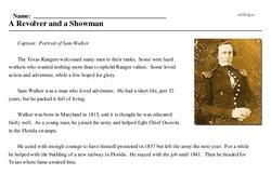 Print <i>A Revolver and a Showman</i> reading comprehension.