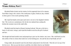 Print <i>Winter Kitten, Part 1</i> reading comprehension.