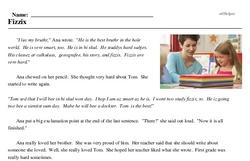 Print <i>Fizzix</i> reading comprehension.