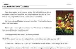 Print <i>Feel Full on Fewer Calories</i> reading comprehension.